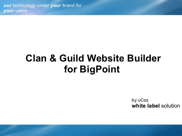 Bigpoint white-label
