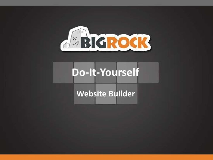 BigRock's Do-It-Yourself Website Builder Tool