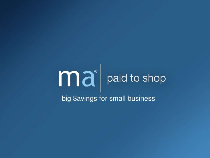 ®<br />big $avings for small business <br />