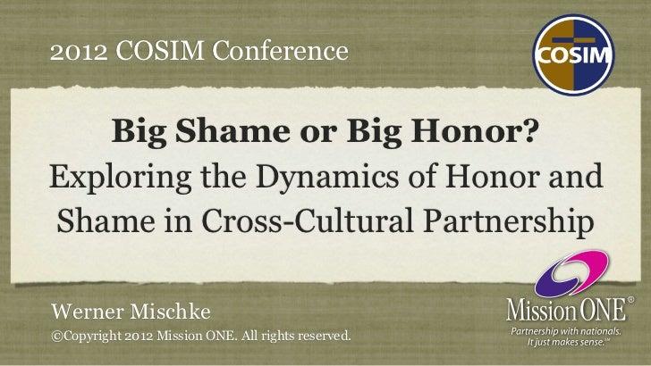 Big Shame or Big Honor? Exploring the Dynamics of Honor and Shame in Cross-Cultural Partnership (Mac OS Keynote)
