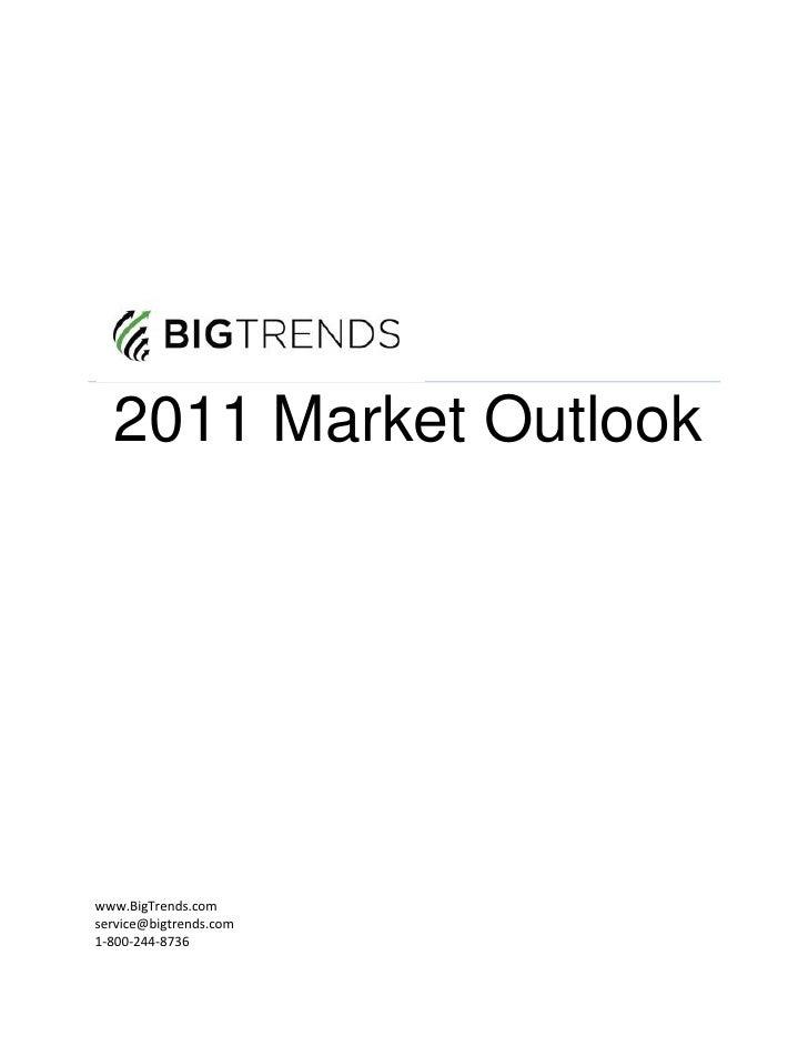 2011 BigTrends Market Outlook