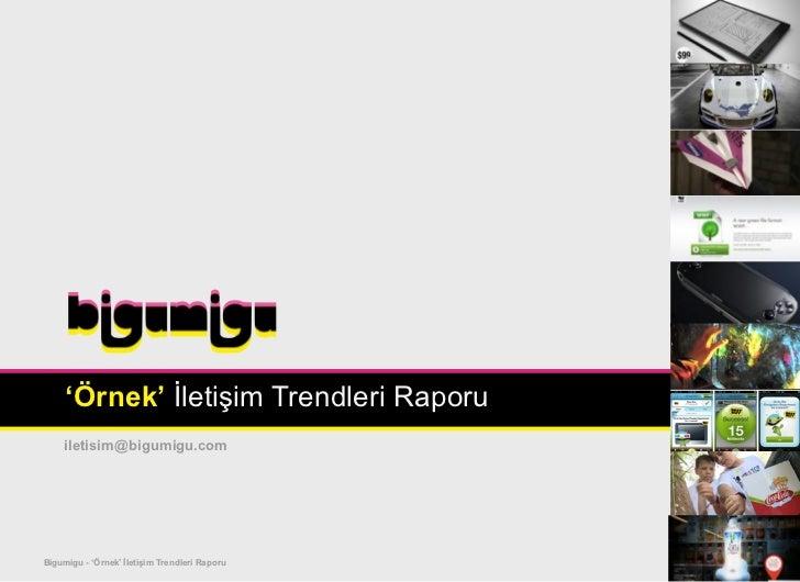 'Örnek' İletişim Trendleri Raporu    iletisim@bigumigu.comBigumigu - 'Örnek' İletişim Trendleri Raporu