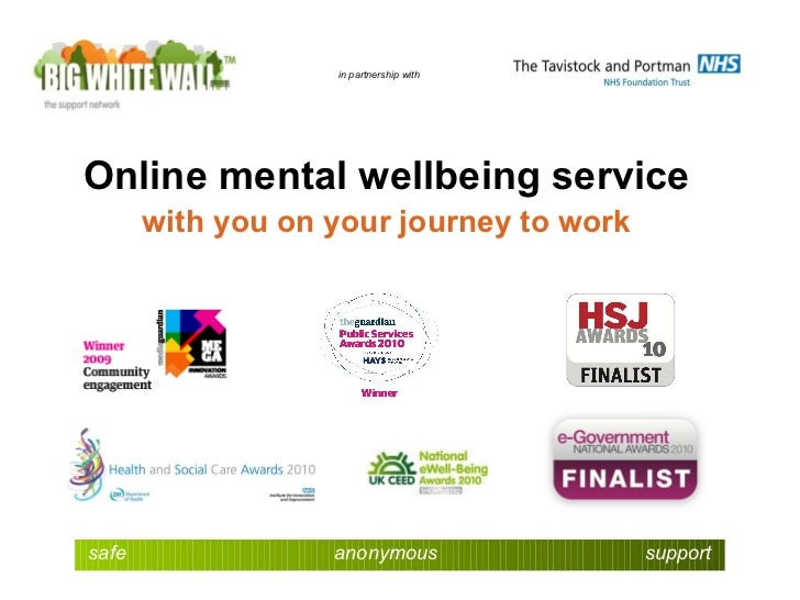 in partnership with Online mental wellbeing service with you on your journey to work safe   anonymous   support