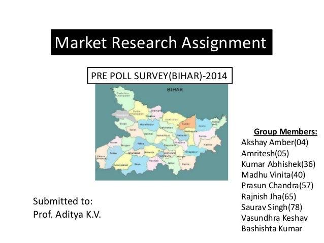 MR PrePoll Survey Bihar