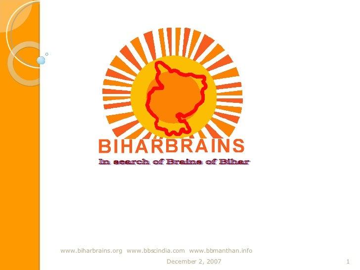 Biharbrainspresentation Final