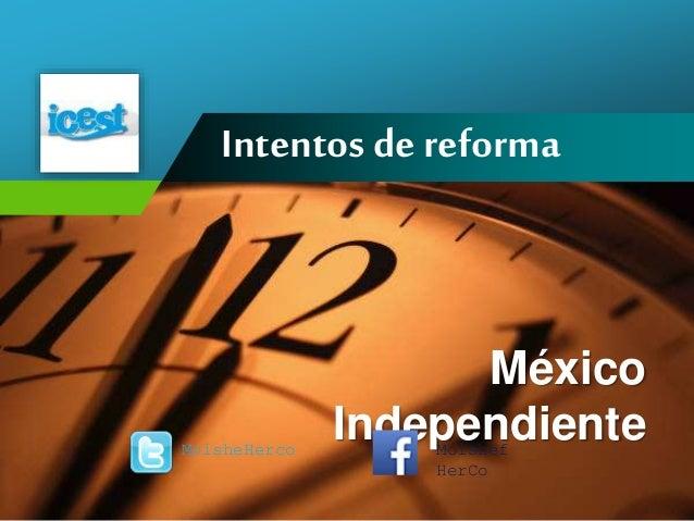 Company LOGO Intentos de reforma México IndependienteMoisheHerco Moishef HerCo
