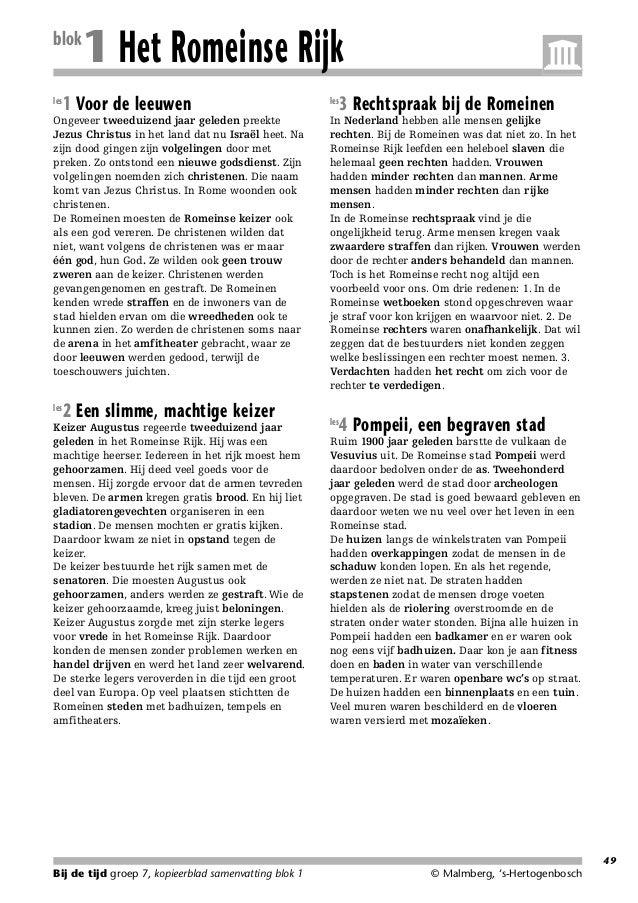 214718_Samenv.qxd  blok les  20-02-2006  15:09  Pagina 49  1 Het Romeinse Rijk  1 Voor de leeuwen  Ongeveer tweeduizend ja...
