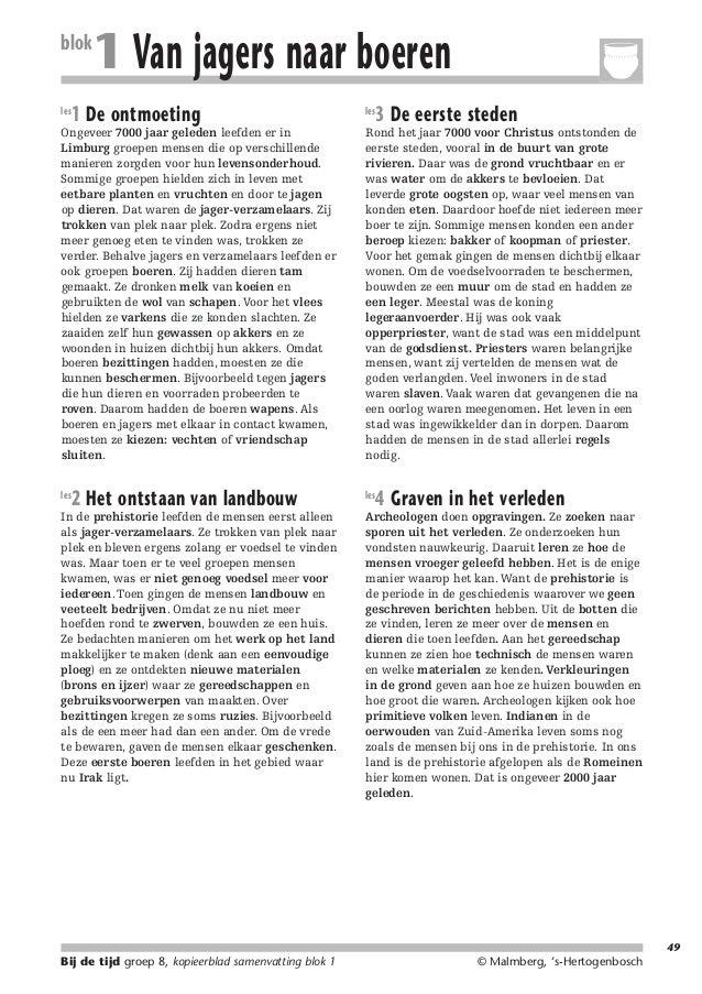 214719_BDT3_KB8_samenv  blok les  08-07-2004  12:59  Pagina 49  1 Van jagers naar boeren  1 De ontmoeting  Ongeveer 7000 j...