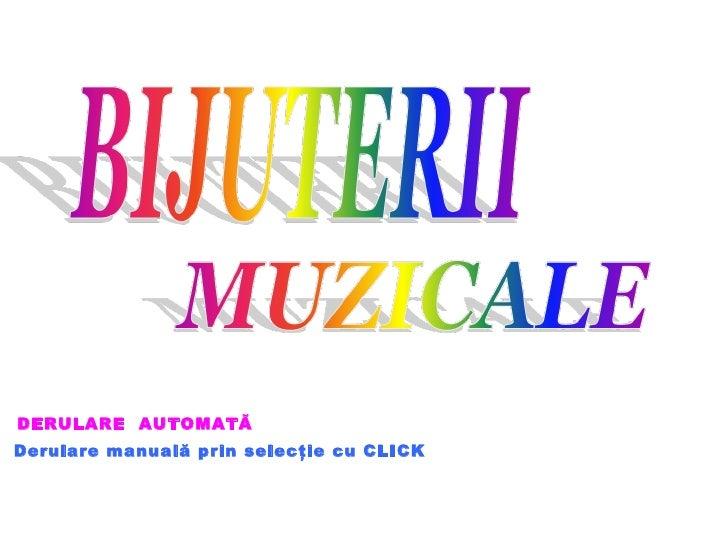 Bijuterii Muzicale