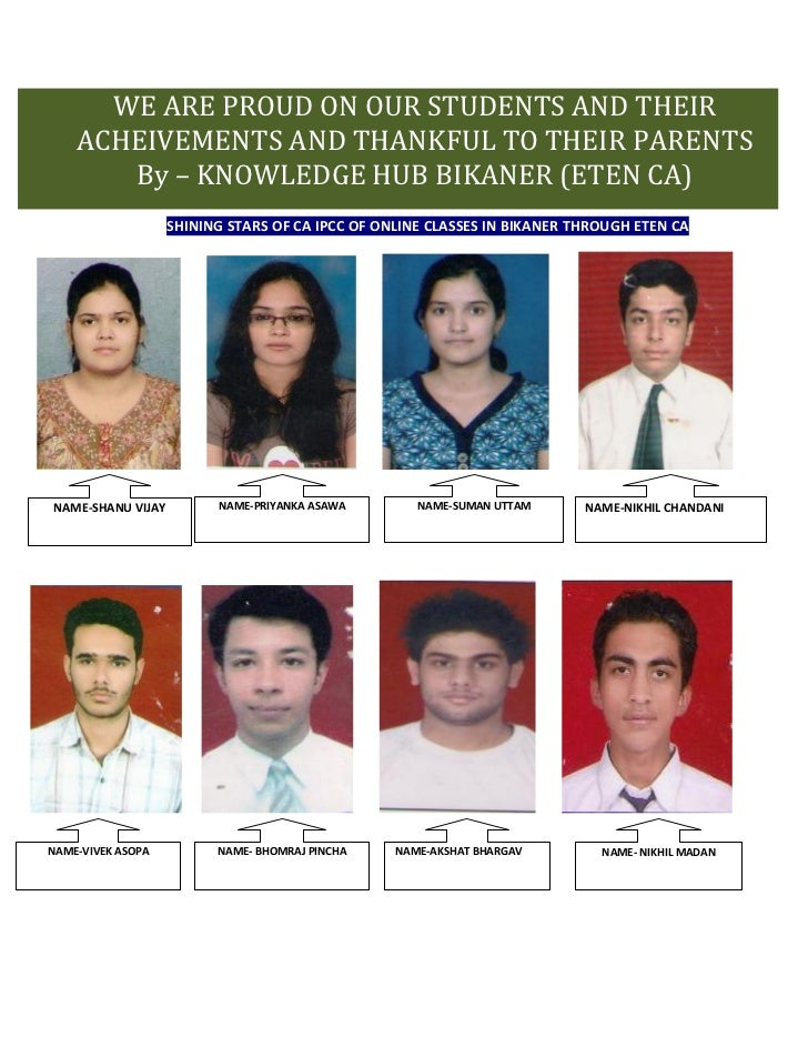 WE ARE PROUD ON OUR STUDENTS AND THEIR          THE ACHIEVEMENTS OF OUR STUDENTS AND THANKFUL TO THE PARENTS AND WELLWISHE...