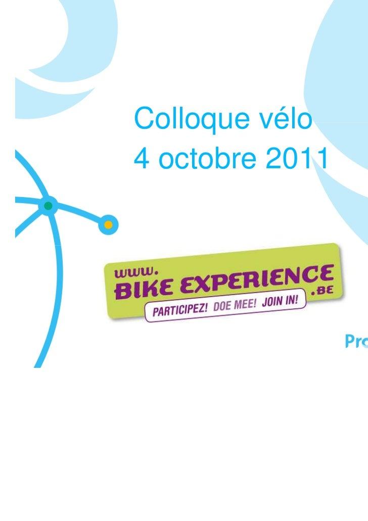 Colloque vélo4 octobre 2011