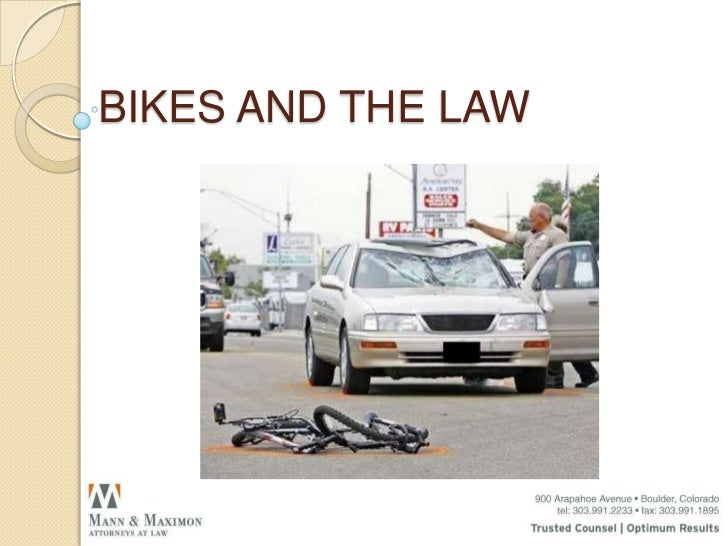 BIKES AND THE LAWFriday, September 23, 2011