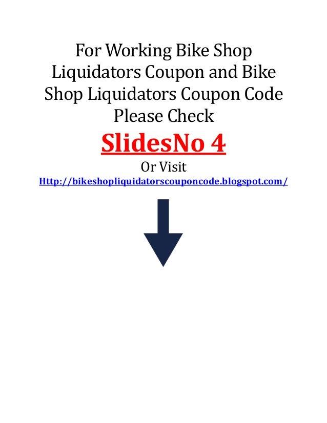 Bike shop liquidators coupon code