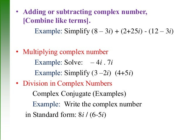writing complex numbers in standard form Let's say that i have the complex number z and in rectangular form we can write it as negative three plus two i so first let's think about where this is on the complex plane.