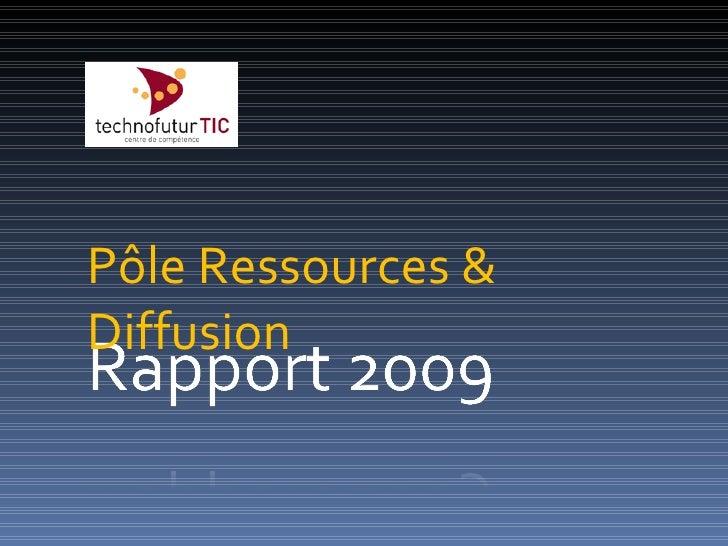 Pôle Ressources & Diffusion