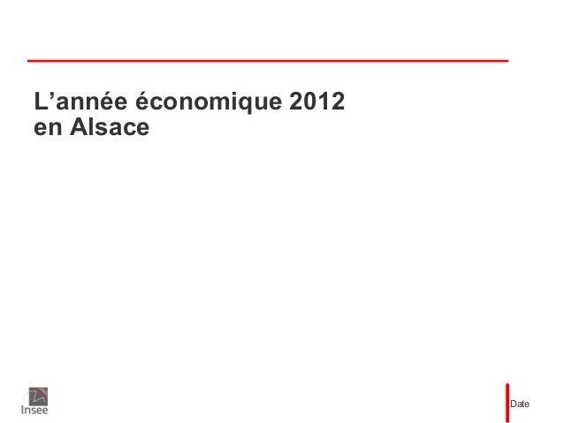 L'année économique 2012en AlsaceDate