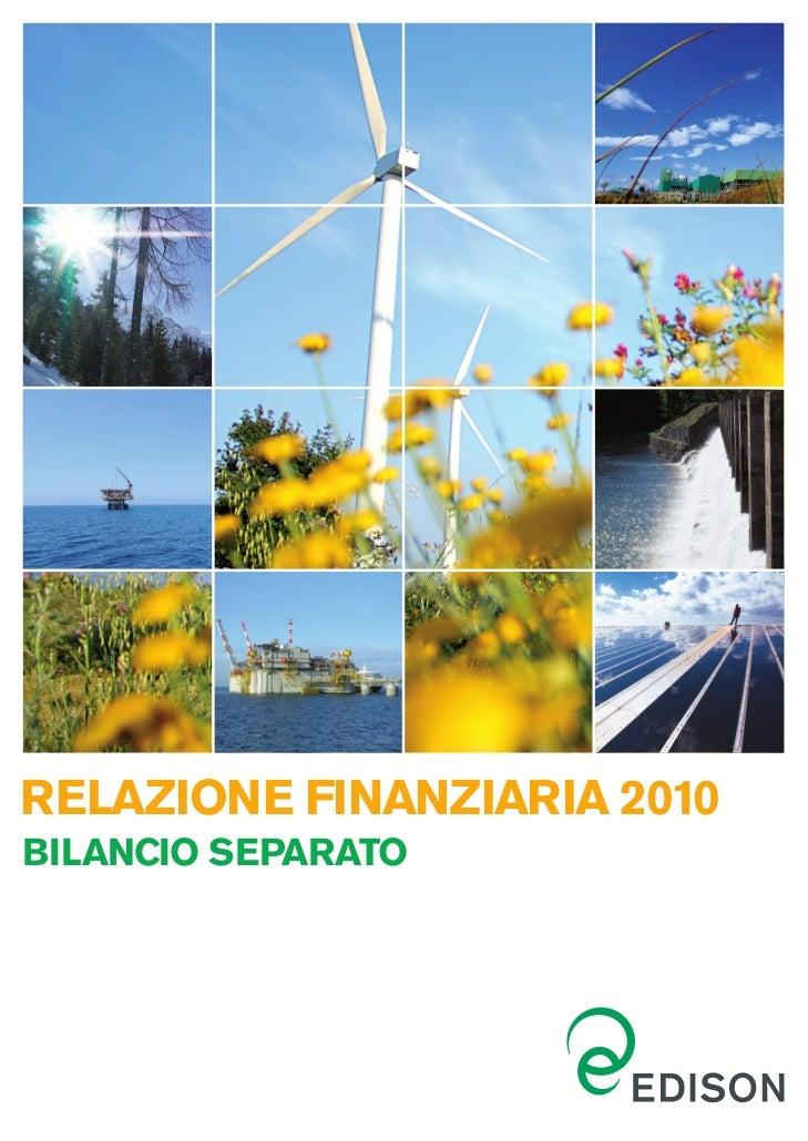 RELAZIONE FINANZIARIA 2010BILANCIO SEPARATO