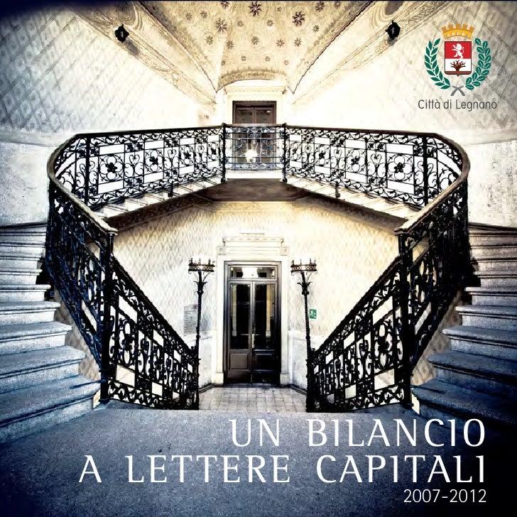 un bilancioa lettere capitali              2007-2012