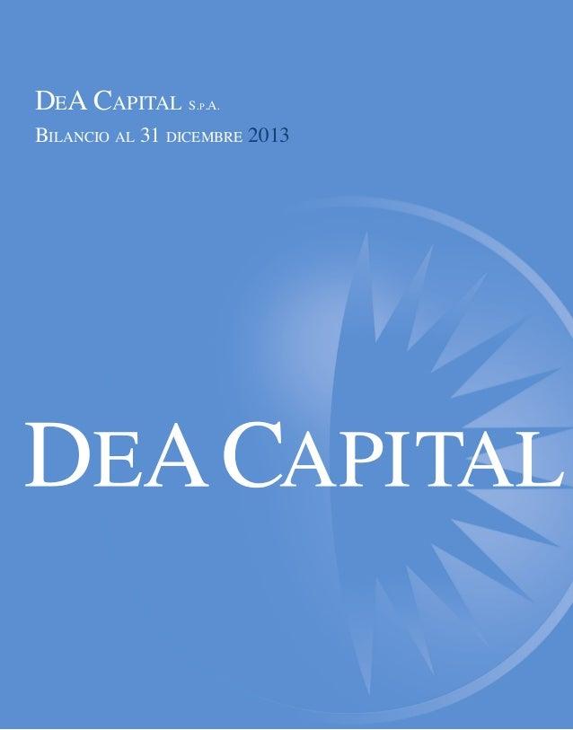 Bilancio DeA Capital 2013