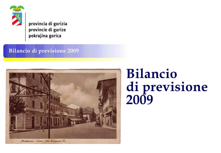 Bilancio  di previsione  2009