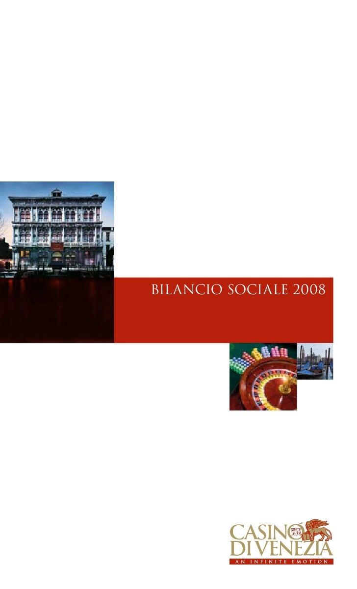 Casinò di Venezia Bilancio Sociale 2008