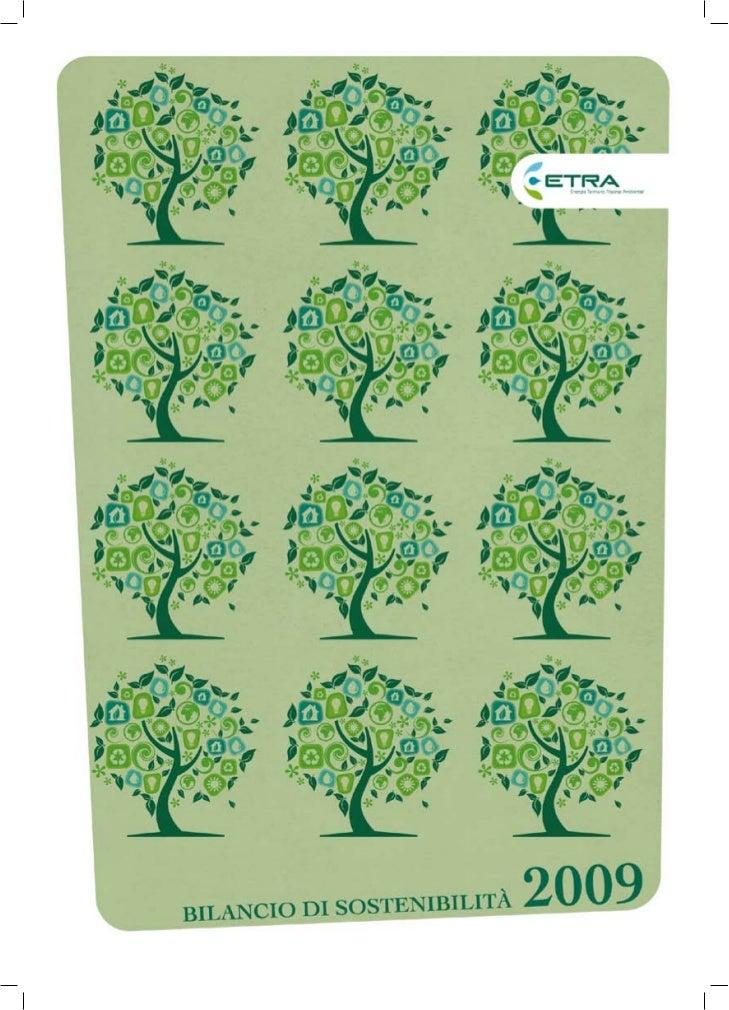 Bilancio Sostenibilità ETRA 2009