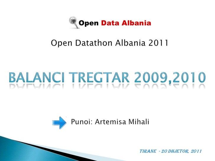 Bilanci tregtar -  Open Datathon Albania