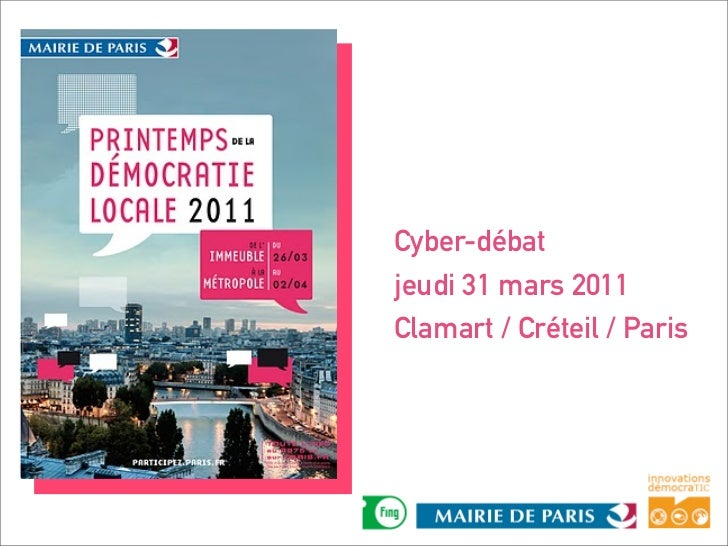 Bilan cyber débat du 31 mars 2011