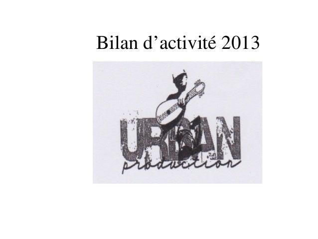 Bilan d'activité 2013