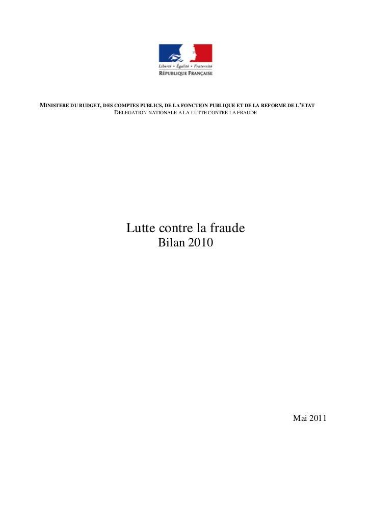 MINISTERE DU BUDGET, DES COMPTES PUBLICS, DE LA FONCTION PUBLIQUE ET DE LA REFORME DE L'ETAT                         DELEG...