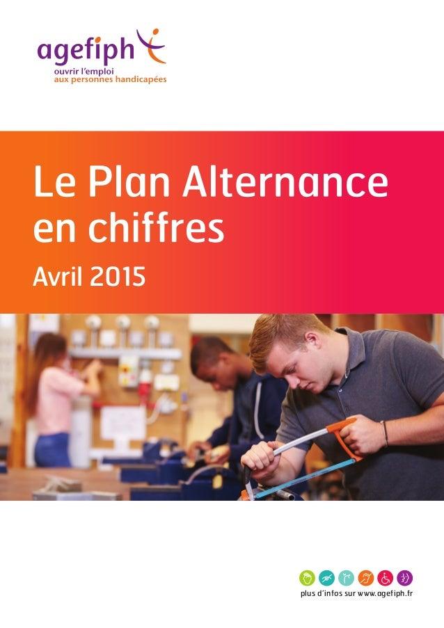 plus d'infos sur www.agefiph.fr en chiffres Avril 2015