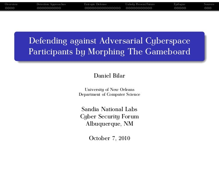 Defending against Adversarial Cyberspace Participants