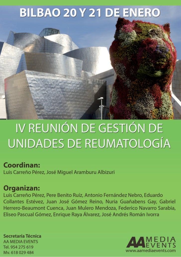 BILBAO 20 Y 21 DE ENEROCoordinan:Luis Carreño, José Miguel AramburuOrganizan:Luis Carreño, Pere Benito, Antonio Fdz. Nebro...