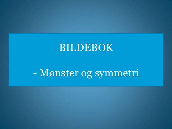 BILDEBOK- Mønster og symmetri<br />