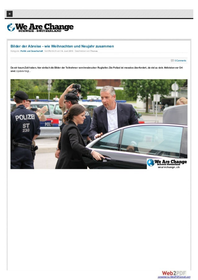 Kategorie: Politik und Gesellschaft Veröffentlicht am 14. Juni 2015 Geschrieben von Thomas Bilder der Abreise - wie Weihna...