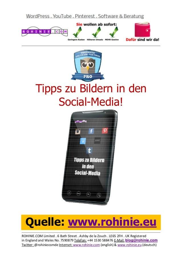 Tipps zum Bildereinsatz in Social-Media!
