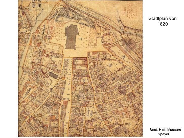 Stadtplan von 1820 Best. Hist. Museum Speyer