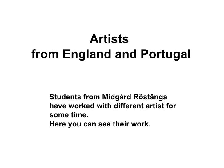Artists  from England and Portugal Students from Midgård Röstånga have worked with different artist for some time. Here yo...