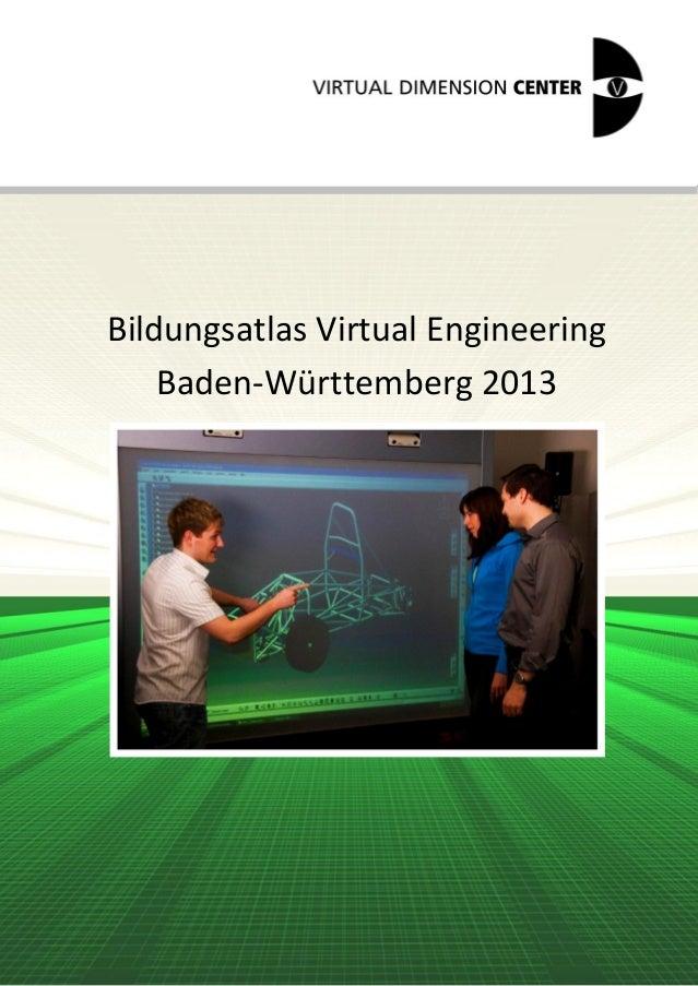 Bildungsatlas Virtual Engineering    Baden-Württemberg 2013