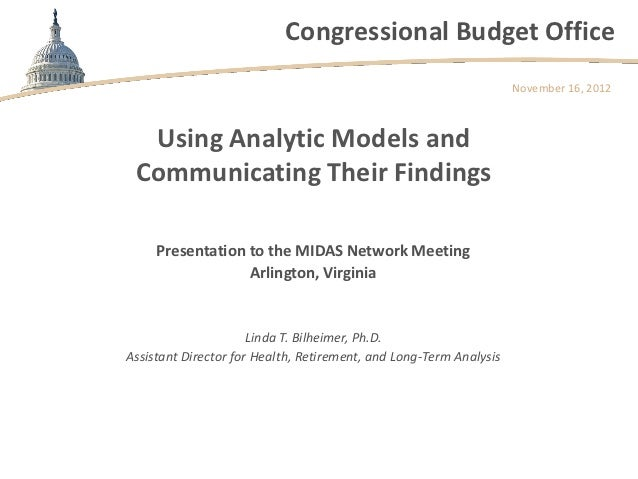 Congressional Budget Office                                                                    November 16, 2012  Using An...