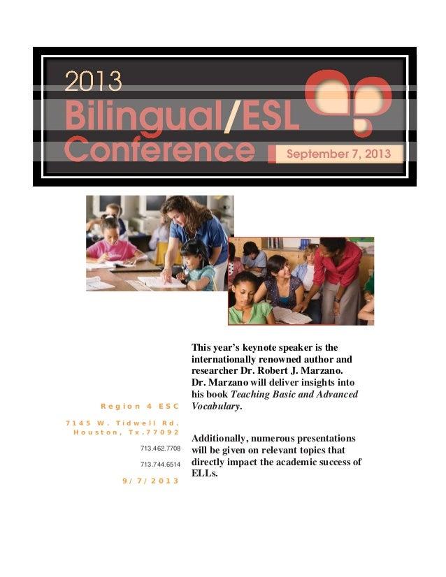 2013 Bilingual/ESL Conference Program