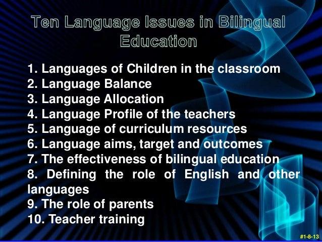 Sample thesis bilingual education
