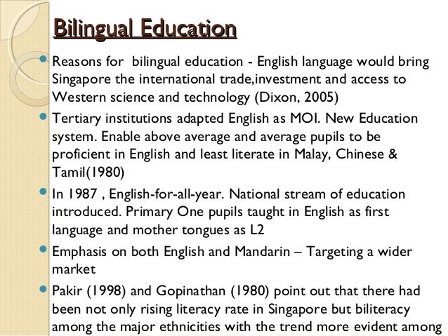 Bilingual Education Essays (Examples)