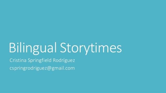 Bilingual Storytimes