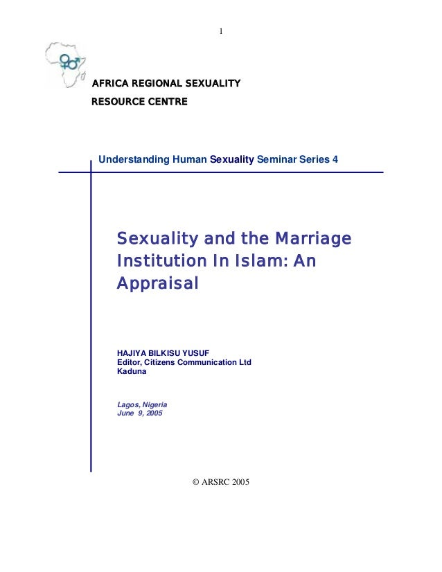 1AFRICA REGIONAL SEXUALITYRESOURCE CENTRE Understanding Human Sexuality Seminar Series 4    Sexuality and the Marriage    ...