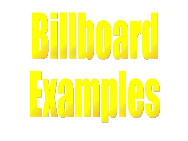 Billboardexamples