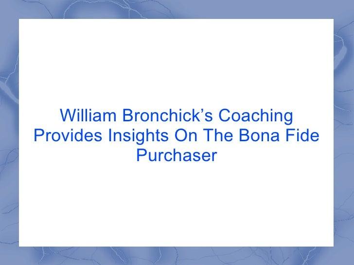 Bill Bronchick Coaching