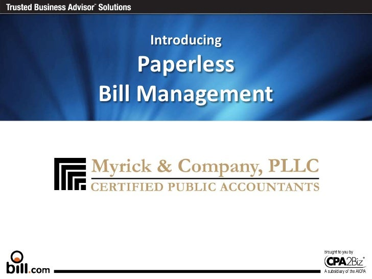 IntroducingPaperless Bill Management<br />