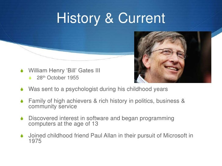 the early life and education of william henry gates iii Born william henry iii is an american entrepreneur, business mogul, investor,  bill gates surrounded by historical events at a young age was inspired  that has given several billion dollars to various charitable and educational projects.
