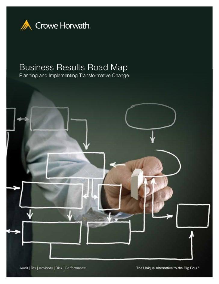 Bill Gay 770 792 7764 Crowe Horwath Perf Roadmap Brochure